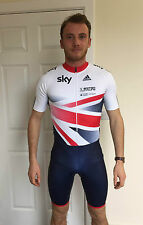 GB OFFICIAL Cycling Skin Suit / Podium Adidas Track Training Skinsuit SS Mens
