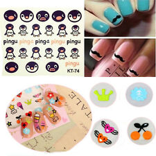 3D Mixed Design Decals Nail Art Stickers Acrylic Manicure Tips Decorations Tools