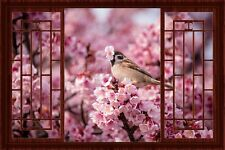 3D China Window Decal WALL STICKER Home Decor Cherry Blossom Art Wallpaper A1
