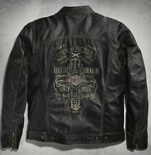 Harley Davidson RALLY RIDER Washed Vintage Leather Jacket M L XL 2X 97080-16VM