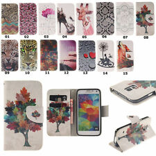 Magnetic Flip Card Pocket Cover Wallet Leather Case For Samsung Galaxy Models