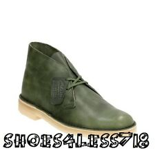 NEW CLARKS OF ENGLAND ORIGINAL MONEY GREEN LEATHER DESERT BOOT EXCLUSIVE 15534