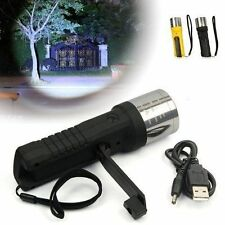 Outdoor Zoomable Camping Hiking Hand Crank Dynamo Flashlight Torch Light Lamp