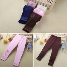 Candy Color Kids Girls Tight Pants Stretch Ballet Dance Leggings Baby Trousers