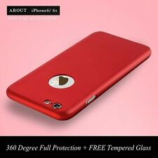 Full Protection 360° Hard Case w/FREE Tempered Glass Cover For iPhone 6 6S Plus