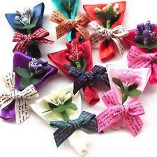 New 8/40PCS Satin Ribbon Flowers Bows Wedding Mother's Day Craft Deco Mix