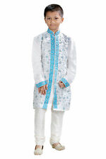 NEW BOYS INDIAN KURTA SHERWANI SUIT (3 pcs) 1 to 12 YEARS-WORLDWIDE POSTAGE