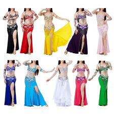 Belly Dance Costume 3pcs Bra&Belt&Skirt Sexy Dancing women Set bellydance wear