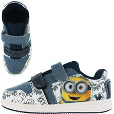 Minions Weddell Despicable Me Boys Kids Trainers - White (7,8,9,10,11,12,13,1)