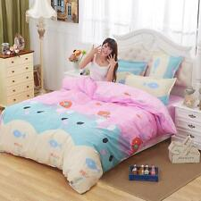 New Single Queen King Kid Bed Set Pillowcase Quilt Duvet Cover Cute Cat Kitty O