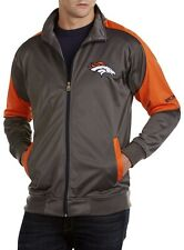 Denver Broncos NFL Mens Full Zip Tricot Charcoal Track Jacket Big & Tall Sizes