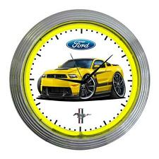 2012 2013 Ford Boss 302 Mustang Classic Neon Clock NEW