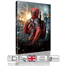 LARGE DEADPOOL FILM MOVIE - CANVAS WALL ART FRAMED PRINTS PICTURES PHOTO DECOR