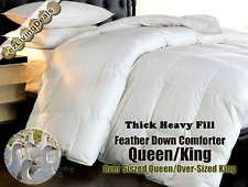 100% Goose Feather Down Comforter 95/5 Heavy Bed Bedding Comforters, Queen King