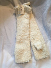 NWT Womens KIMICHI BLUE Cream Long Fingerless Gloves, FREE SHIPPING