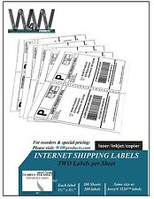 W4W Half Sheet Self Adhesive Internet Shipping Labels Comparable to  5126