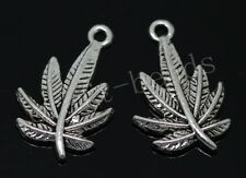 40/240pcs Tibetan silver leaves Jewelry Finding Charms pendant Craft DIY 23x15mm
