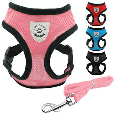 Soft Mesh Vest Puppy Dog Harness & Leash Set For Small Dogs Puppy Chihuahua Pink