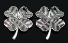 40/240pcs Tibetan Silver leaves Jewelry Finding Charms Pendant DIY 23x17.5mm