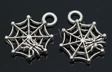 60/300pcs Tibetan Silver spider's web Alloy Jewelry Charms Pendant DIY 17x14mm