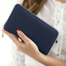 Cow leather wallet purse Women Clutch bill·fold Lady Handbag Card Long
