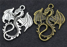 30/150pcs Tibetan Silver/Bronze Beautiful Dragon Jewelry Charm Pendant 35x27mm