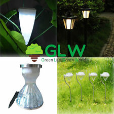 Solar Power LED Garden Lamps Yard Lawn Lights Path Wall Outdoor Spotlight Party