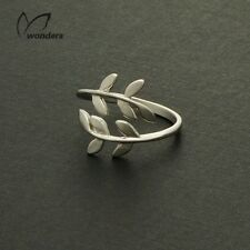 Adjustable, branch, leaf, ring, Midi ring, Finger, thumb ring Rose Gold/Silver