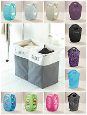 FOLDING LAUNDRY CLOTHES WASHING DIAMANTE POP UP BIN BAG BASKET BATHROOM
