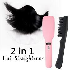 2 in 1 30W Electric Ionic Hair Straightening Comb PTC Heating 100-240V V2Y4