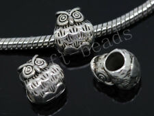 30/150pcs Tibetan Silver Bulk Lots big Lovely Owl European Charms Beads DIY