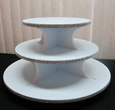 Rhinestone Mesh Round Cup-Cake Stand - 3, 4 or 6 Tier - holds up to 200 cupcakes