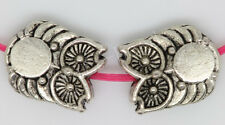 60/300pcs Tibetan Silver two-sided Owl Jewelry Charms DIY Spacer Beads 10x8mm