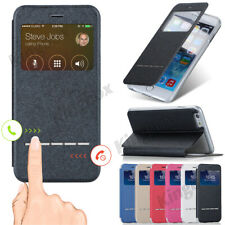 Smart View Window Flip Leather Wallet Case Cover For iPhone 4S 5S SE 6 6S 7 Plus