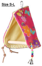 Bird Parrot Hammock Perch Tent Hanging Toy Bed Hut Hideaway Cave Cage Bunk