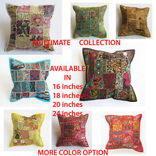 Vintage Patchwork cushion cover pillow case Ethnic cotton Handmade Bohemian