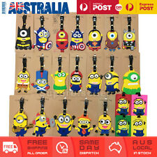 Minions Travel Luggage Tag Hero Adult  Baggage Kids School ID Name Label Silicon