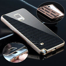 Luxury Aluminum Metal Carbon Fiber Cover Case For Samsung Galaxy Note 4 N910