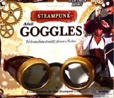 Adult Steampunk Goggles Brown Explorer Mad Scientist Victorian Pilot Car Driver