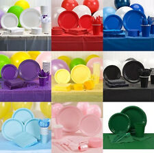 Party Balloons Paper Plates Napkins Cups Cutlery Streamers Tablecloth Utensils