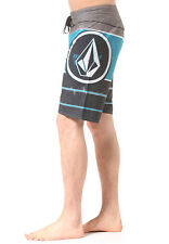 NEW VOLCOM board shorts LIDO ION blue MOD TECH 4way stretch blue 30 32 34 36 38