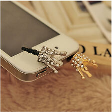 Crystal Crown 3.5mm Anti Dust Earphone Jack Plug dust proof Cap for iPhone 4 5 6