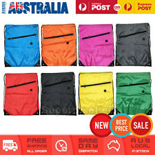 Drawstring Gym Bag School Library Swimming Travel Kids PE Swim Sport Backpack AU