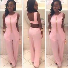 Sexy Women Night Club Long Jumpsuit Backless Bandage Jumpsuit Rompers Plus Size