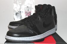 Air Jordan Retro 1 I AJ1 Flight 23 NYC Black Grey Gray Sneakers Mens Size 8 13
