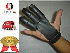 ARCHERS - LEATHER SHOOTING 3 FINGERS GLOVE BLACK COLOR HUNTING SHOOTING GLOVES