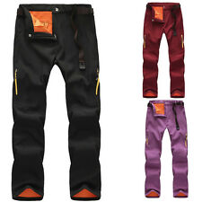 New Women Outdoor Winter Warm Pants Overalls Waterproof Hiking Climbing Trousers