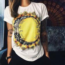 NEW Women's Blouse Short Sleeve Loose Sunflowers Loose Casual Vest Tops T-Shirt