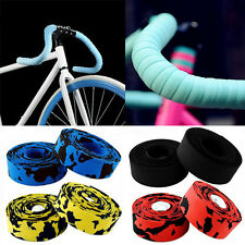 MTB BMX Cycling Bicycle Cork Handlebar Wrap Bike Grip Tape + 2 Bar Plug 13 Color
