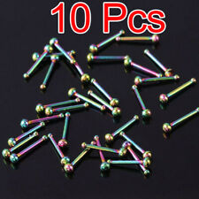 10Pcs Stainless Steel Ball Bone Nose Stud Rings Bar Body Jewelry 20G Wholesale
